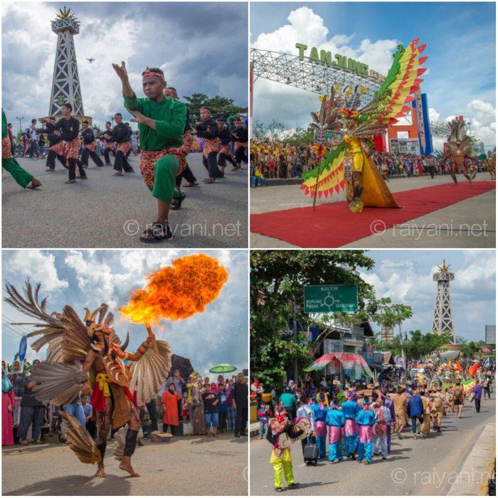 Puncak acara Tabalong Etnic Festival (TEF) berlansung meriah di pusat kota Tabalong dimeriahkan dengan parade kesenian