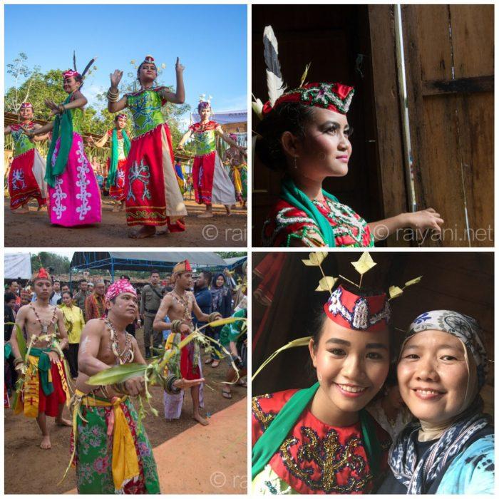Atraksi kesenian Kawin Bagunung Perak Dayak Maanyan desa Warukin