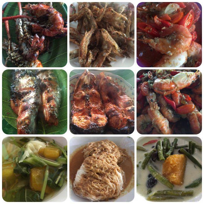 Aneka makanan khas Banjar sajian untuk Adaro Blog camp